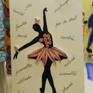 Biglietto Ballerina stilizzata