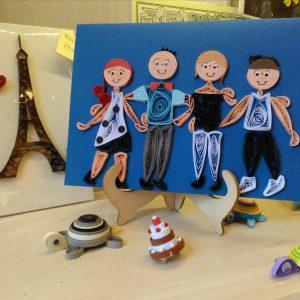 Famiglia Ritratto 4 persone (formato A5)