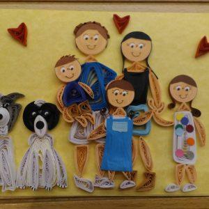 Famiglia Ritratto 5 persone (formato A5)