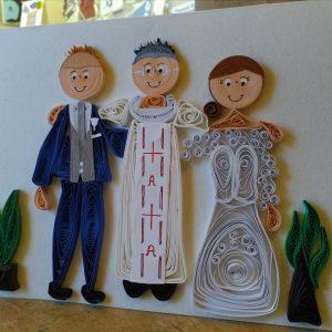 Ritratto sposi con sacerdote (formato A5)