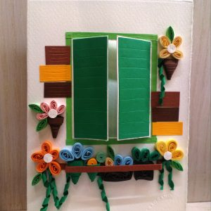 Biglietto finestra con fiori
