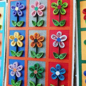 Biglietto con 9 fiori