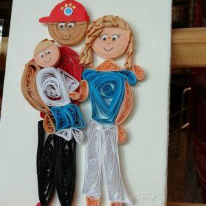 Famiglia ritratto 3 persone