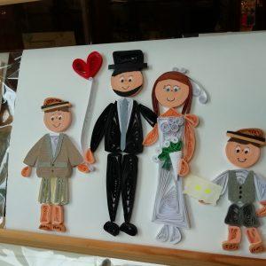 Ritratto sposi con paggetti (formato A5)